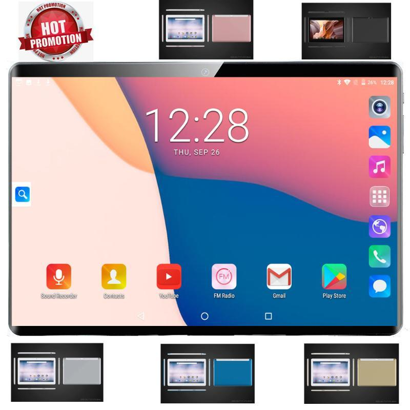2020 NOVO 10 polegadas Tablet PC Bluetooth Car jogo GPS 6 + Tela 128GB ROM Quad Core HD IPS Dual Sim Card 4G Phone Call Wifi