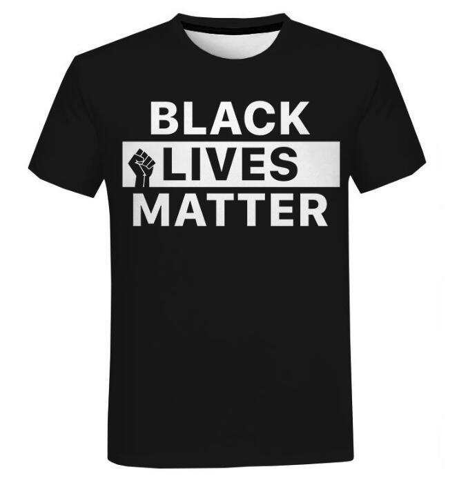 Schwarzer Leben Materie T-shirts Mode Männer und Frauen T-Shirt Kurzarm Unisex Ich kann nicht atmen George Floyd Tshirt Streetwear