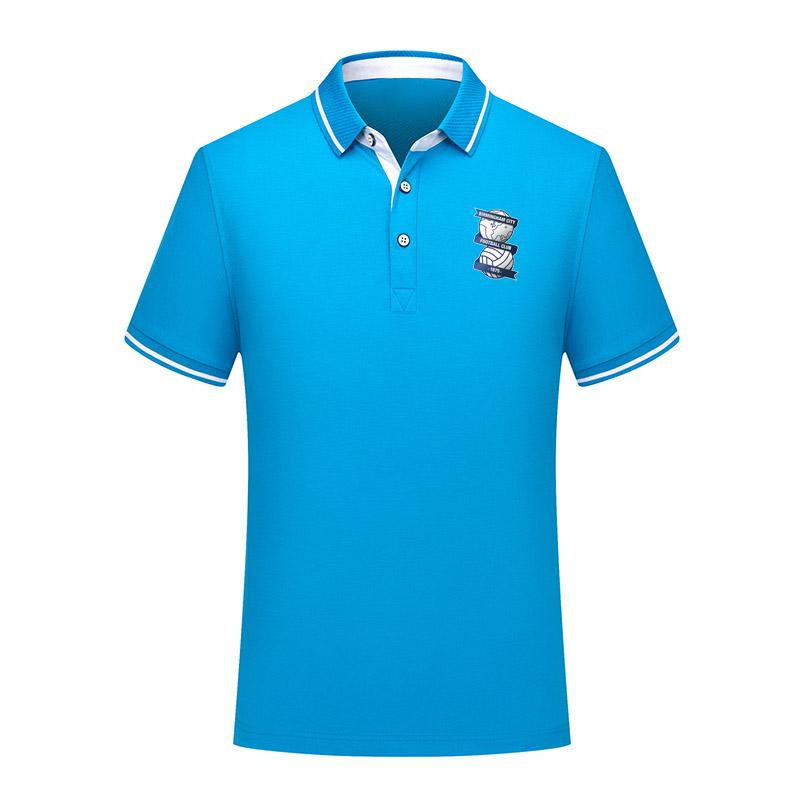 2020 Birmingham City Männer Fußball-Polo-Hemd Fußball Short Sleeve Polo Mode Sport Training Polos Fußball-Fußball-T-Shir
