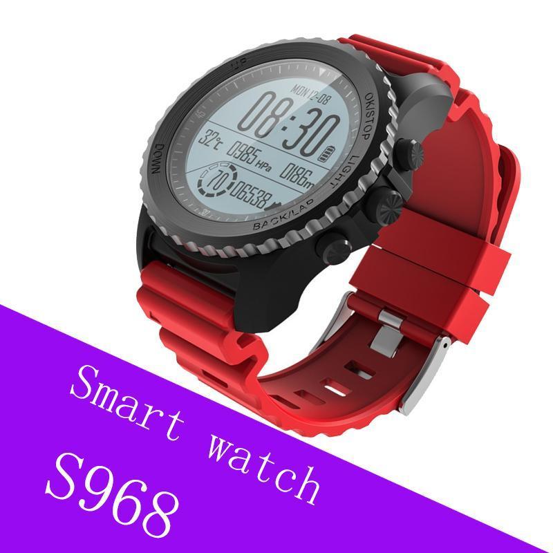 Cgjxs S968 Esporte relógio inteligente IP68 Waterproof sono Barómetro Heart Rate Monitor Termômetro Altimeter pedômetro Gps relógio inteligente