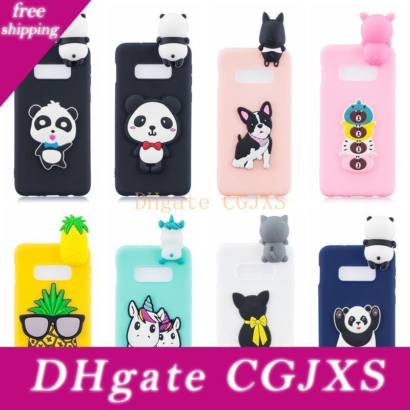 3d caso molle del silicone per Huawei P30 COVER PRO Onore 10 Lite Galaxy S10 Inoltre J4 J6 A7 A9 2018 Owl Cartoon Unicorn orso panda Unicorn Cat