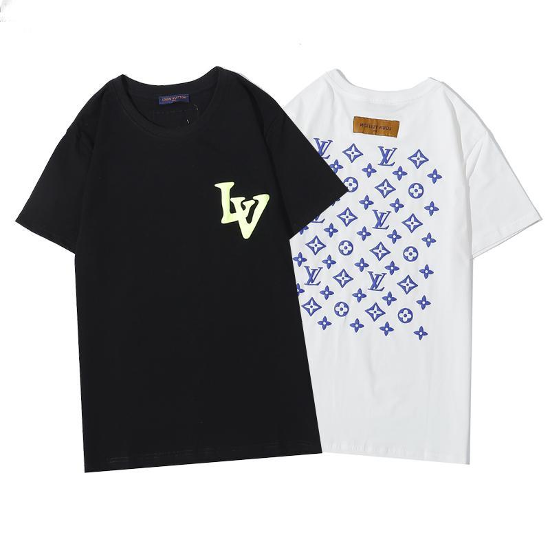Mens Designer T-shirt d'été Marque respirante en vrac T-shirts pour hommes et femmes Couple Designer Hip Hop Streetwear Hauts luxe T-shirts H5