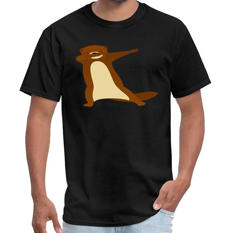 Impression drôle tamponnant Otter cadeau design t-shirt homme de marque femmes Rhude t-shirt 3XL 4XL 5XL hiphop top