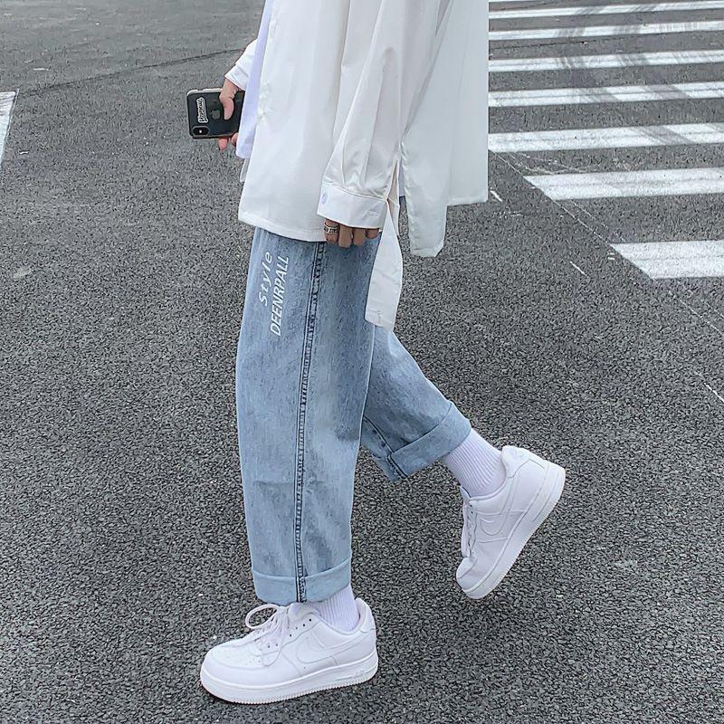 2020 denim estate nuovo e jeans uomo dei jeans alla moda ins sciolti stampati pantaloni corti rettilinei