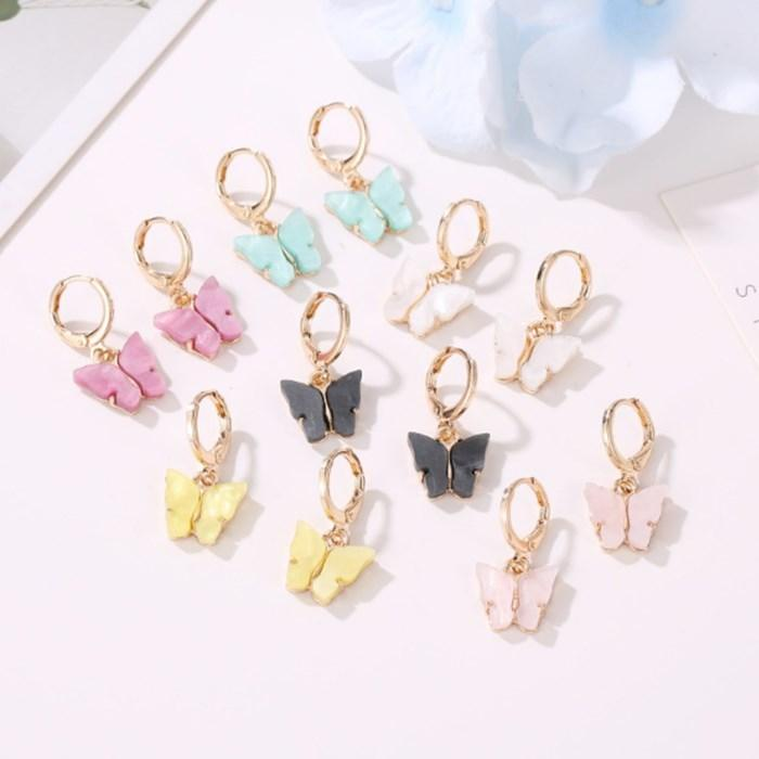 مجوهرات عالية الجودة لطيف الفراشة أقراط ستريت ستايل إسقاط أقراط الأزياء الكورية أقراط استرخى للمرأة هدايا