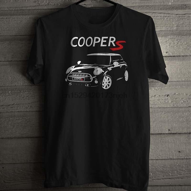 T-shirt preto do esporte New Mini Cooper S Tamanho S-3XL