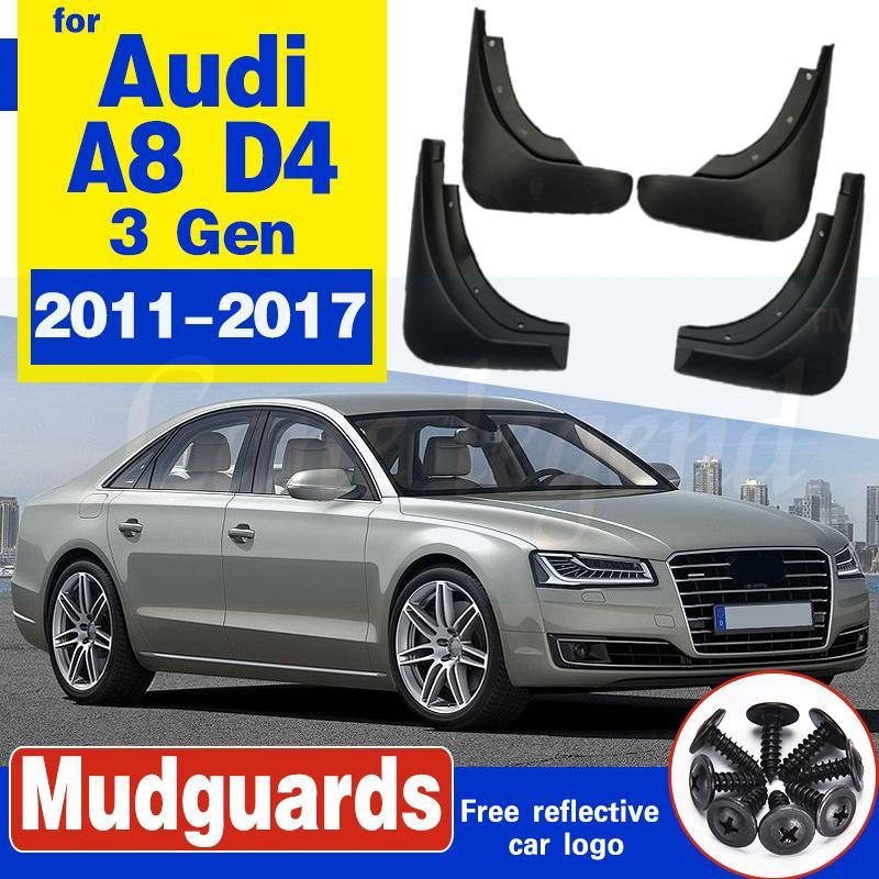 Bavette voiture pour Audi A8 D4 2011 ~ 2017 Fender boue Garde Flap Splash Rabats 2012 Accessoires Garde-boue 2013 2014 2015 2016 3 3 Gen
