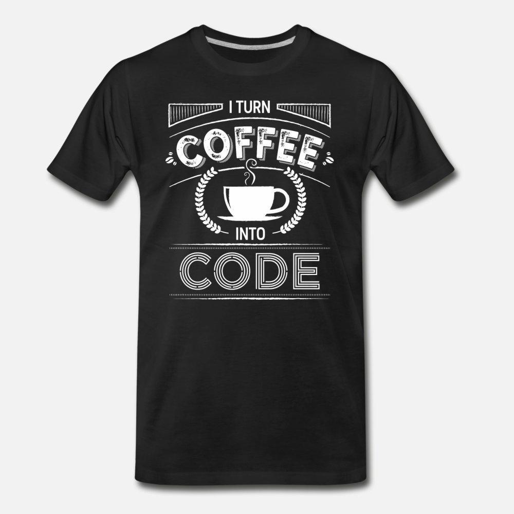 Schale I Kaffee in Code T-Shirt Männer bedruckter Baumwolle runder Kragen-Standard-lose neue Art-Frühlings-Familien-Shirt