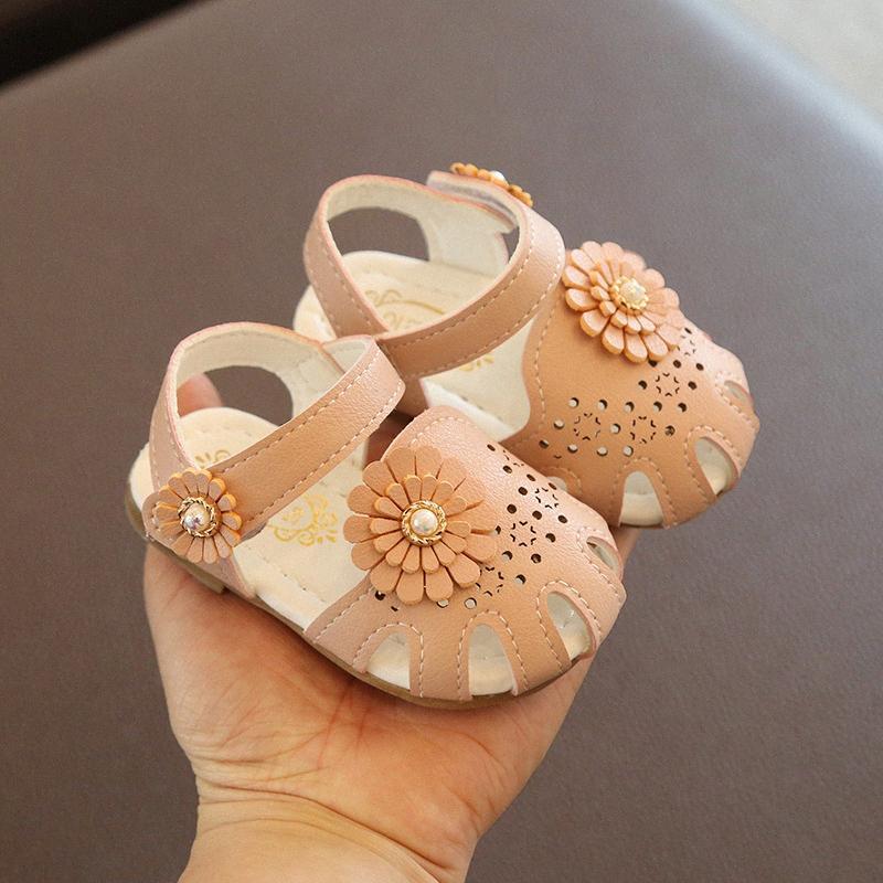 Детские сандалии девушка сандалии 2020 лето сладкого Подсолнечной принцесса обувь девушка младенец выдолбленных малыши обувь мальчики обувь на продажу платье обуви v6fm #