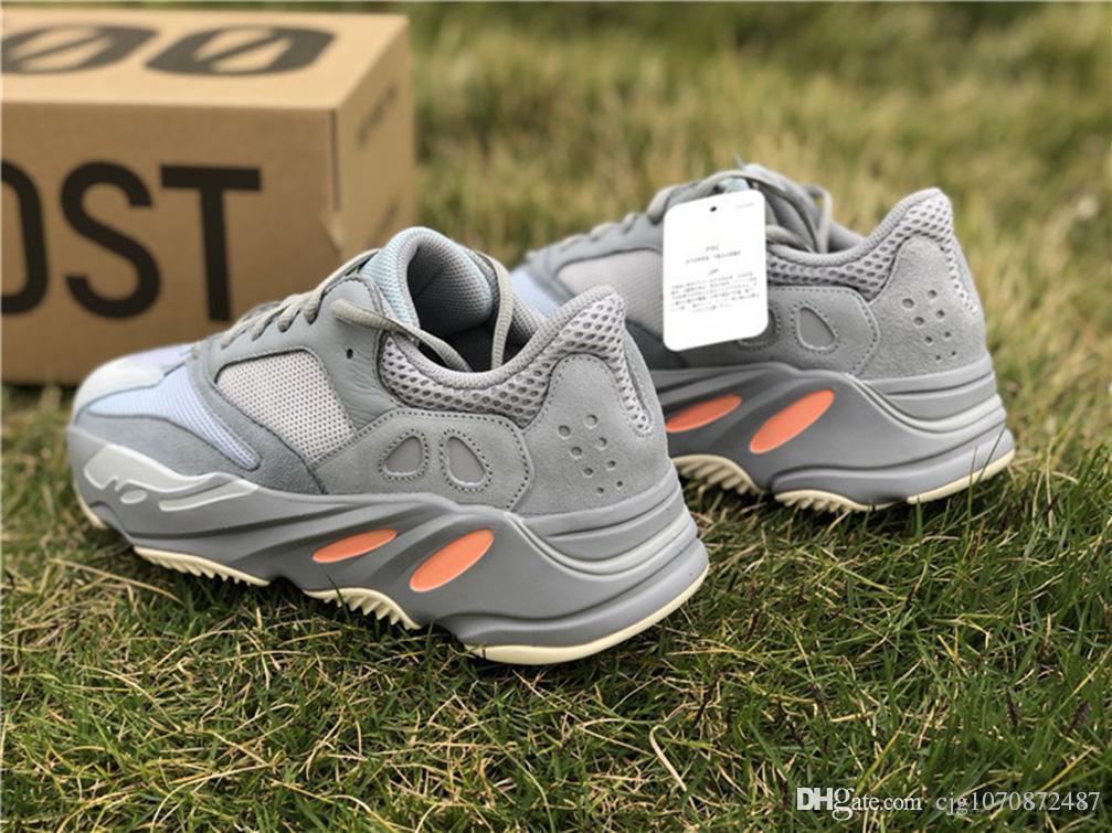 2019 En Yeni Yayın Kanye West 700 Atalet blueish Grimsi Erkek Kadın Ayakkabı Koşu Otantik Yüksek Kalite Açık Sneakers ile Kutusu ABD 5-12
