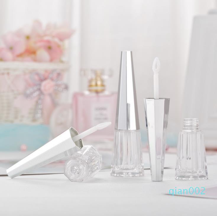 Tubo 4 ml Lip Gloss con Silver coperchio labbra fatti in casa Glaze riutilizzabili bottiglie trasparenti Svuotare Lipgloss pacchetto SN4401