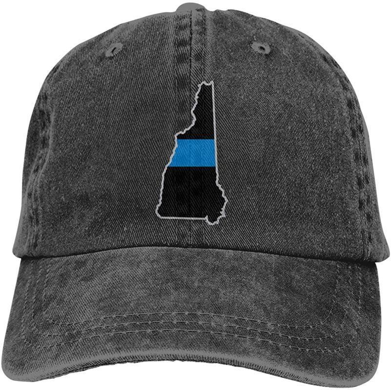 İnce Blue Line New Hampshire Unisex Yumuşak Casquette Cap Vintage Ayarlanabilir Beyzbol Caps
