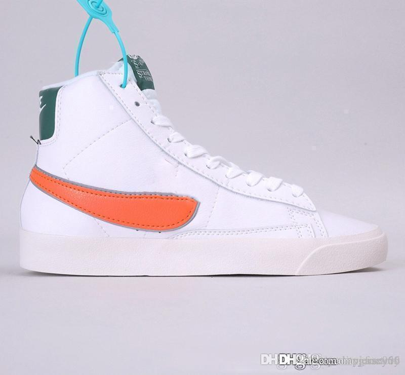 New W Blazered Mid 77 VNTG Ci siamo in pelle scamosciata Casual Sneakers Blazer Mid Skateboard Scarpe da donna Bianco Giallo Designer Sport Scarpa Sneakers Dimensioni 36-45