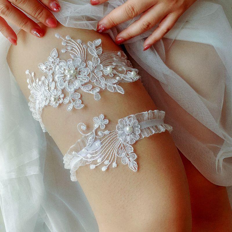 블루 페르시 섹시한 레이스 신부 다리 액세서리 신부 2,020 저렴한 란제리 가터 레이스 벨트와 놀라운 해변 결혼식 신부 가터 세트