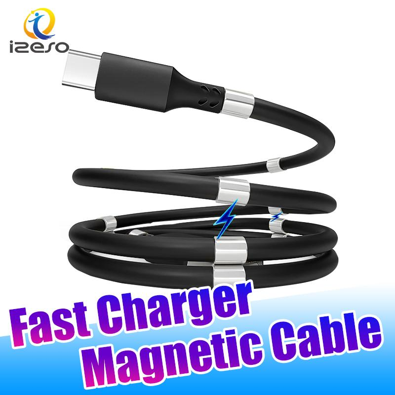 3A Magnetic Cable Fast Charger Micro USB Cable Quick Charging Cord Line 0.9m 1.8m High Speed Chargers with Retail Package izeso