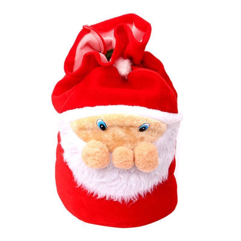 Babbo Natale Basso Bag Bag Bag Coulisstring Grandi decorazioni di velluto Decorazioni regalo Regalo Deposito Caramella Caramella Tree Christmas Qopet