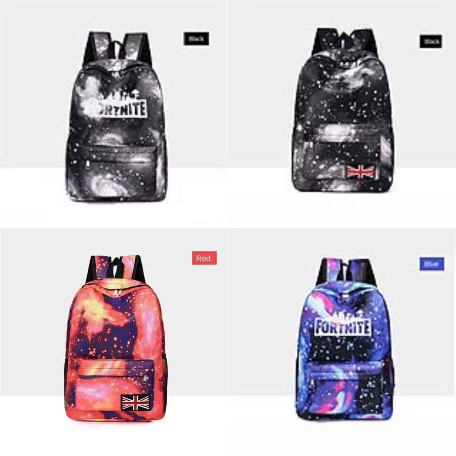 HOT Moda Mulheres Fortnite Starry Sky Fortress Noite Backpack Juventude Canvas Vintage Fortnite Starry Sky Fortress noite Mochilas para Teena # 611