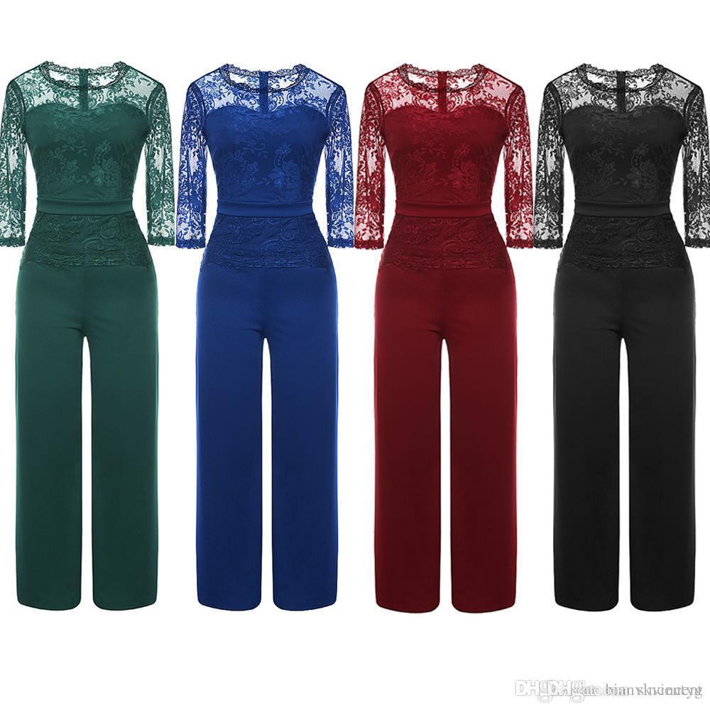 Стили Летняя комбинезон для женщин большой Sexy с длинным рукавом Bodysuit Полная длина шнурка заплатки Rompers женские-футляр один кусок игровая одежда костюмы