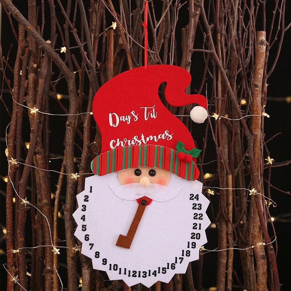 Подарок двери Подвесная Праздник Craft Календарь Главная партия Нетканые ткани Симпатичные детские украшения Рождество Подвеска Декоративные Фестиваль eOfY #