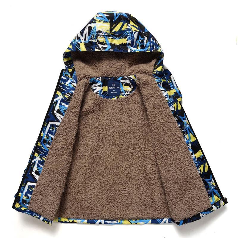Yeni 2019 Erkekler Ceketler Coats İlkbahar Sonbahar Kış Çocuk Coat Su geçirmez Windproof Bebek Boys Ceket Kalın Sıcak Y200831 rüzgarlıkları