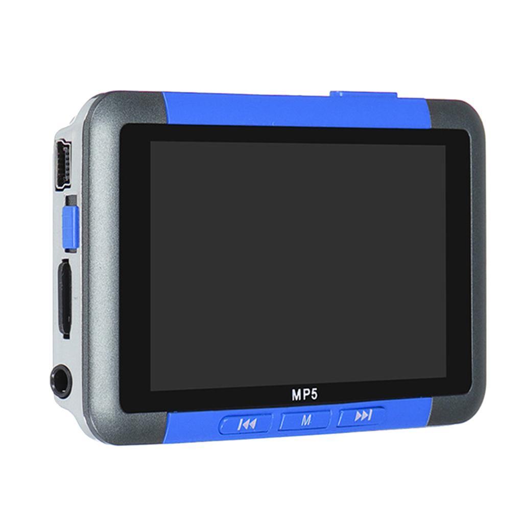 3 بوصة LCD شاشة رقمية MP3 MP4 MP5 مشغل موسيقى 16 GB راديو FM فيديو فيلم الأزرق