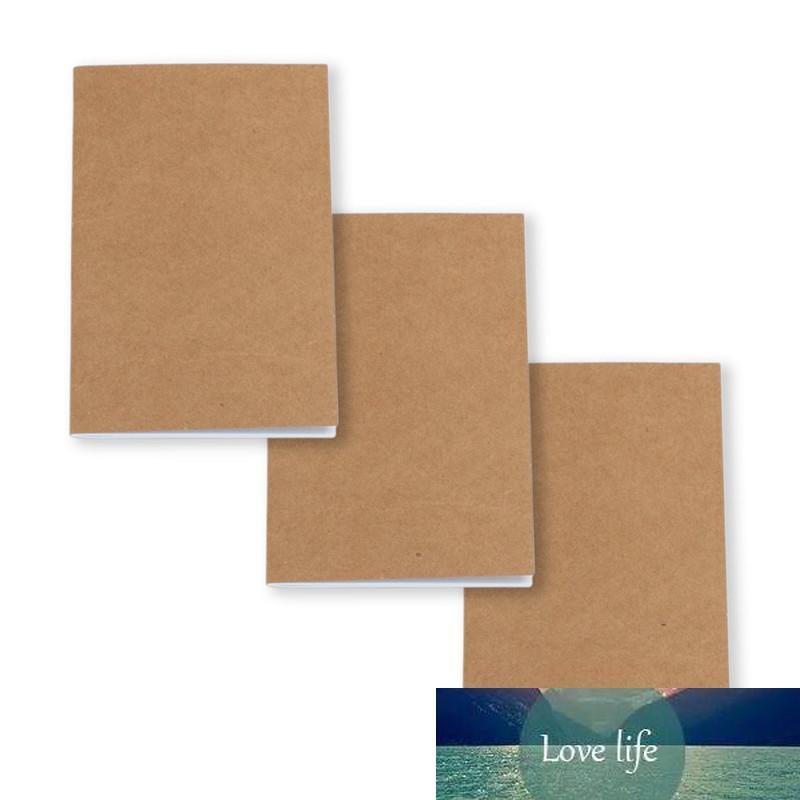 Kraft Notebook Unlined Blank Books Travel Journals for Students School Children Writing Books 8.8*15.5cm