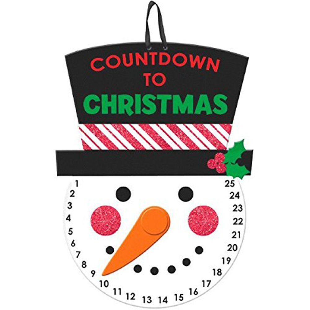 Christmas Countdown Hanging Sign Wedding Ufficio Finestra decorazioni domestiche Porta