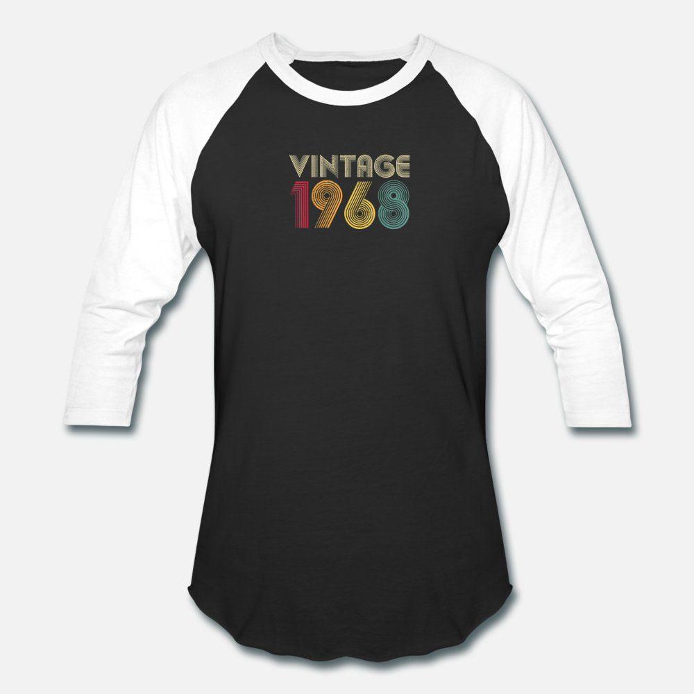 1968 retrò da uomo T Shirt 52 ° compleanno regalo Vintage uomini, sciolti in cotone 100% di formato S-3XL lettere allentato autentica Primavera Autunno formale