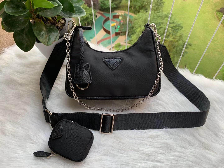 Bolso de hombro para las mujeres Paquete de pecho Lady Tote Cadenas Handbags Presback Purse Messenger Bag Backpack Bolsa de lona