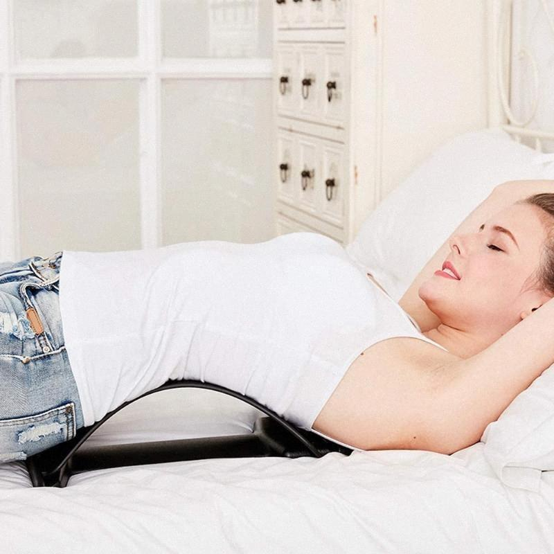 Camilla masaje de espalda aptitud masaje ajustable Equipo de estiramiento de la aptitud de la ayuda lumbar de la espina dorsal alivio del dolor Chiropractic 6 y4Lw #