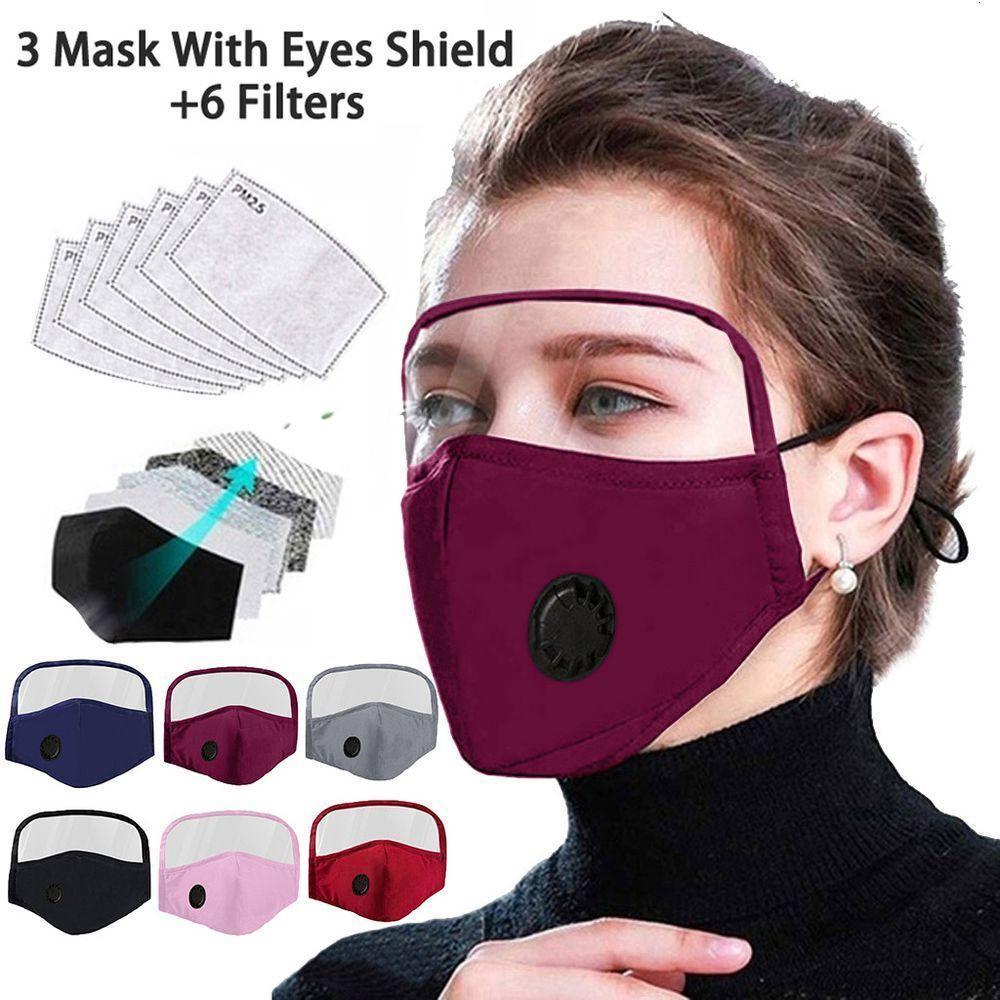 Открытый защитный дыхательный клапан маска с глазами Щит 3 Маски +6 Фильтры