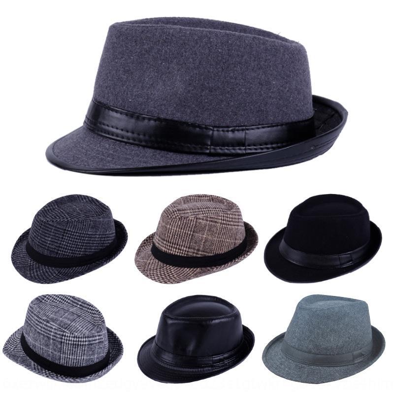 CjQoI Herbst und Winter Männer und Frauen Wolle Verwendung britische Mode Gentleman Jazzhutes modische Wollmütze