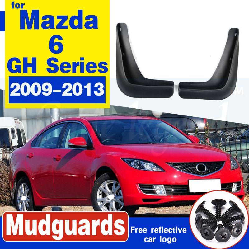 2pc avant L / R voiture boue pour Mazda 6 Rabats série 2009-2013 GH Bavettes garde-boue BOUE Garde-boue Fender 2010 2011 2012