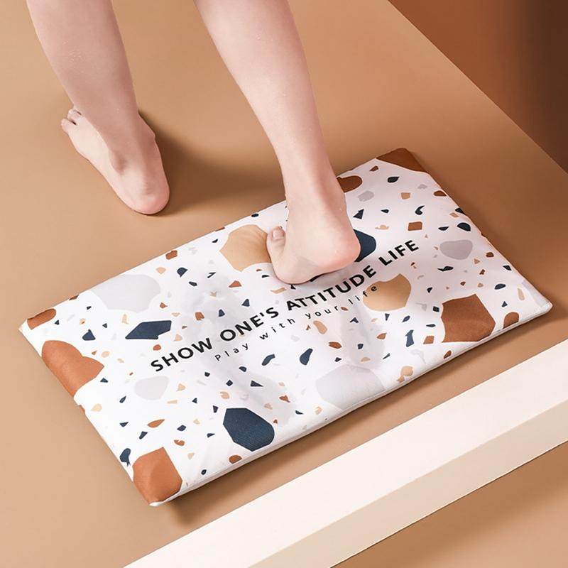 Kieselalge Absorbent Auflage Abdeckung Bad Anti-Rutsch-Auflage-Abdeckung Schnell trocknend Home-Matte Bodenmatte neu