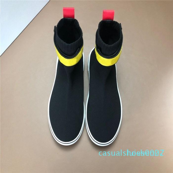 moda Son Erkekler moda Kırmızı dipleri için Yumuşak Kauçuk Hız Eğiticilerin ile Mesh Üst, Üçlü S ile Erkek Çorap Sneakers C27 sneaker