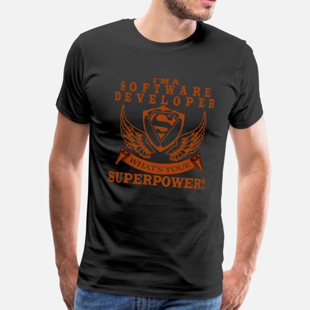 Yazılım Geliştirici t gömlek erkekler Karakter Kısa Kollu Mürettebat Boyun Yenilik Hediyelik Komik Bahar Benzersiz gömlek