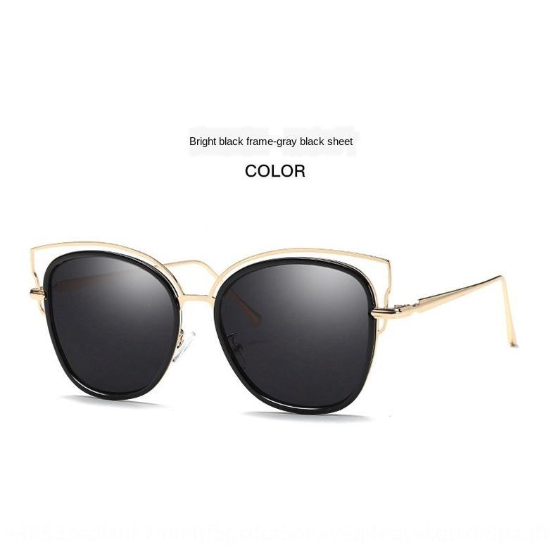 La herencia de nueva luz y finas gafas polarizadas de moda de colores gafas de sol grandes del marco de moda de la mujer de cara redonda