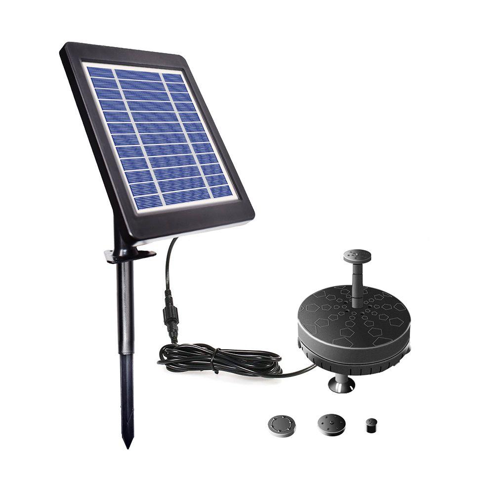 Солнечный фонтанный насос для Birdbath 6V 3.5W солнечной энергии БПТ Погружной Водяной насос Встроенный индикатор батареи для патио Садовый пруд Бассейн