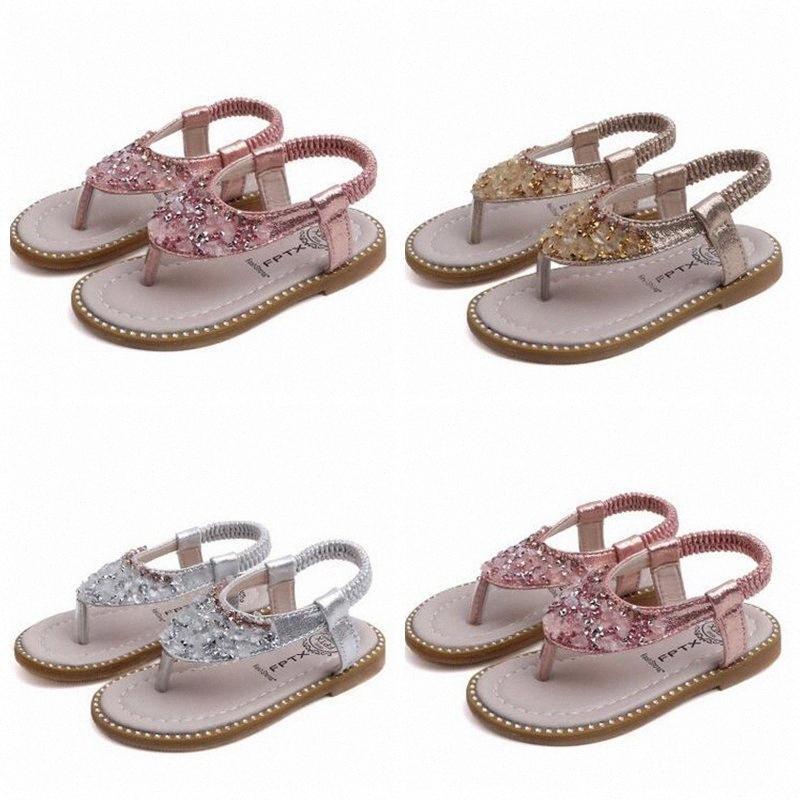 Kids Designer Shoes ragazze romano Sandali estate Acqua Drill slittamento dita dei sandali della ragazza Paillettes Infradito Casual Cool Piattaforma Calzature ZYQ2 lEKB #