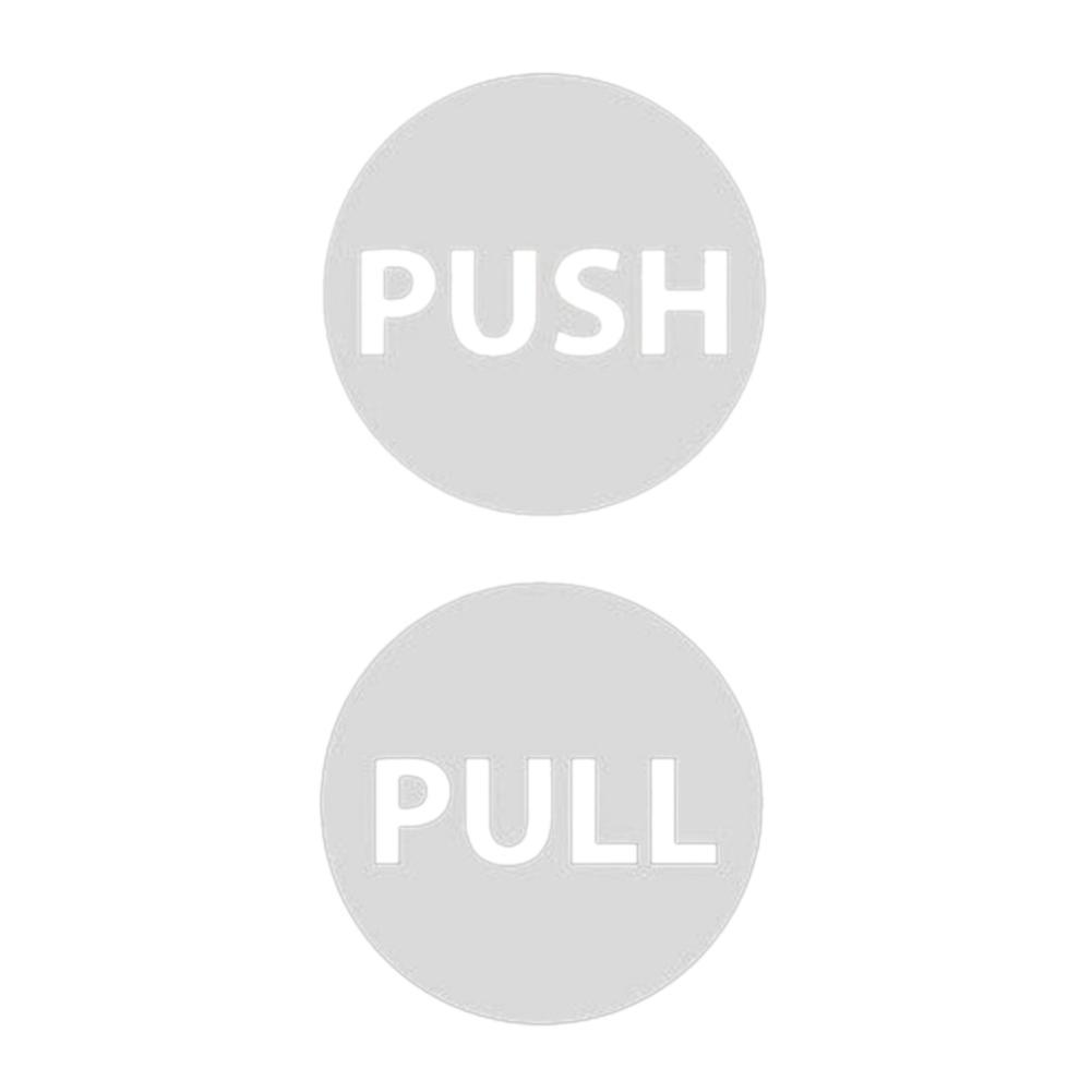 Mağaza Kendinden yapışkanlı Restoran İşaret Push Pull Giriş Çıkış Banyo Kapı Sticker
