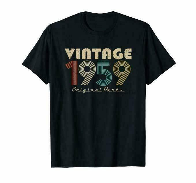 Nueva 60º cumpleaños retro 1959 para hombre de la camiseta del tamaño S-2XL