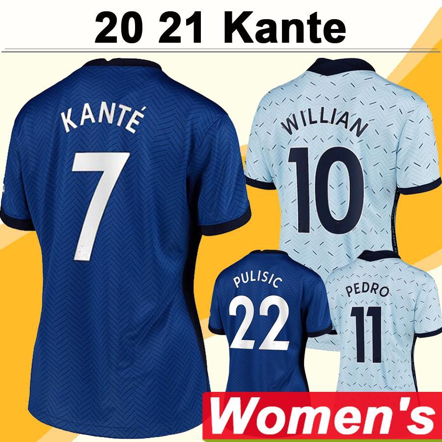 20 21 GIROUD KANTE Women Soccer Jerseys PULISIC PEDRO MORATA Home Away 3rd Football Shirts WILLIAN FABREGAS JORGINHO Short Lady Uniforms