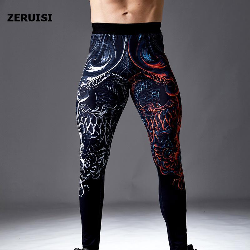 Hommes Compression fonctionnant des pantalons serrés Formation de gymnase Fitness Fitness Sports Pantalons Secides Screy Sece Leggings Male Yoga Fonds de yoga