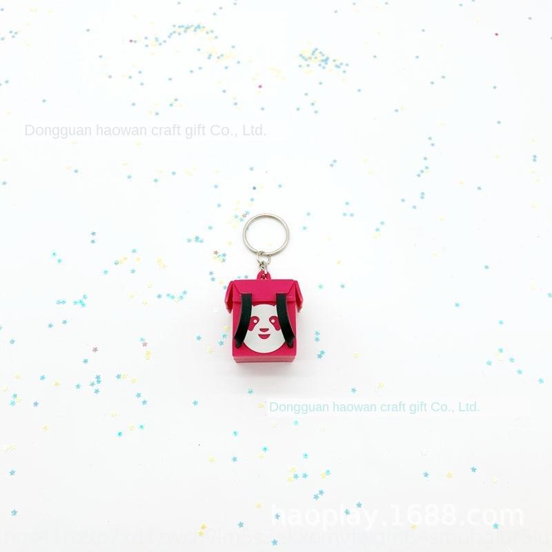 Tayvan anahtarlık panda doğum kutusu kolye Uber yediği anahtarlık kolye kutusu