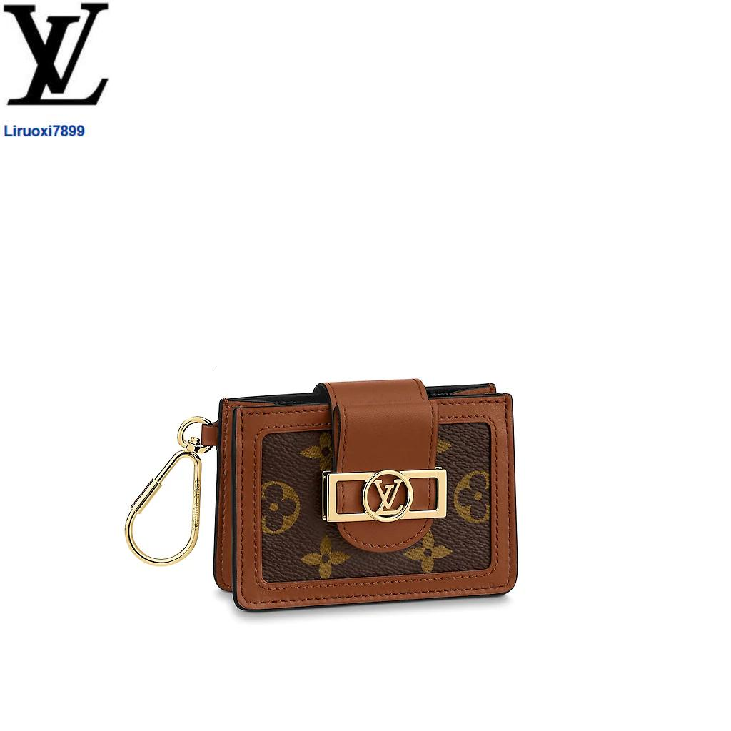 liruoxi7899 DU8H M68751 Dauphine Multicartes WOMEN REAL LEATHER Long Wallets Chain Wallet Pouches Key Card Holders Phone Cases PURSE