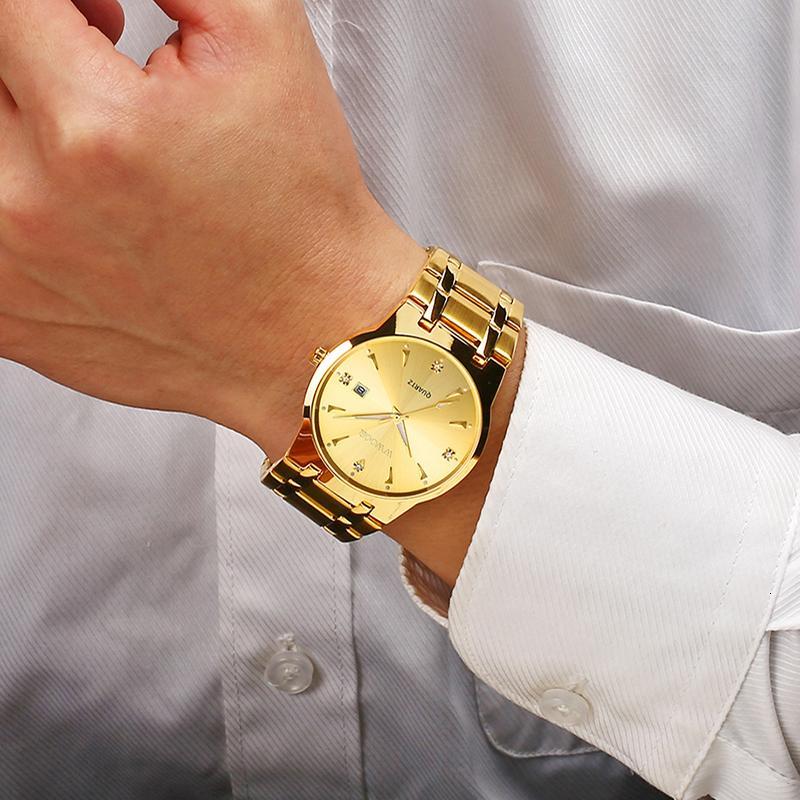 Relogios Алмазный Часы Мужчина для Mens Wwoor Top Brand Luxury Gold Quartz Мужской Спорт Бизнес Золотые наручные часы Человек 2020