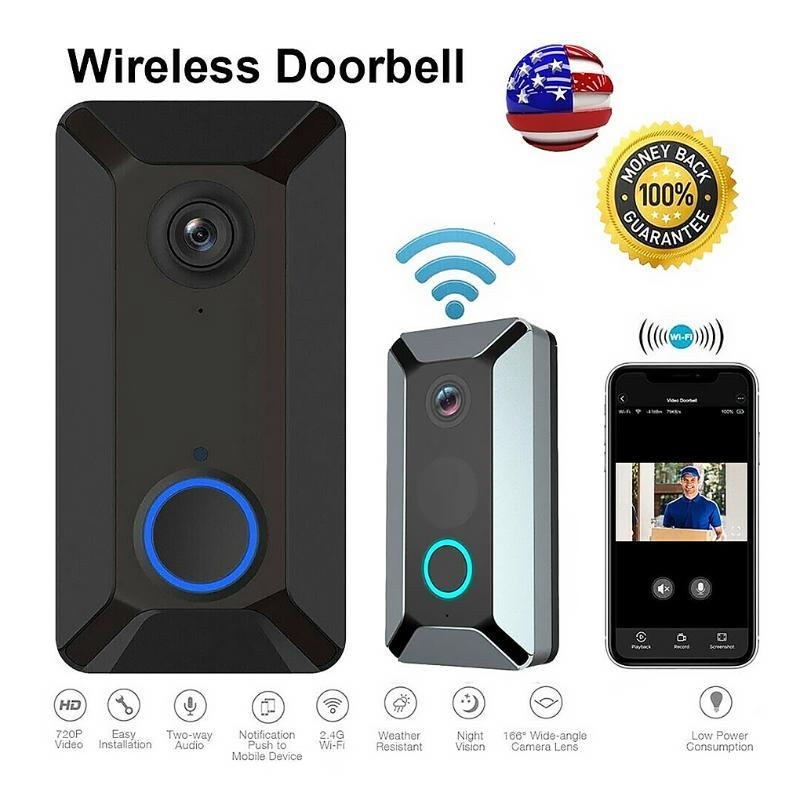 V6 inteligente WiFi Vídeo Doorbell câmera 2.4G IP Campainhas Wireless Home Visual Intercom APP Controle Night View Camera Campainhas