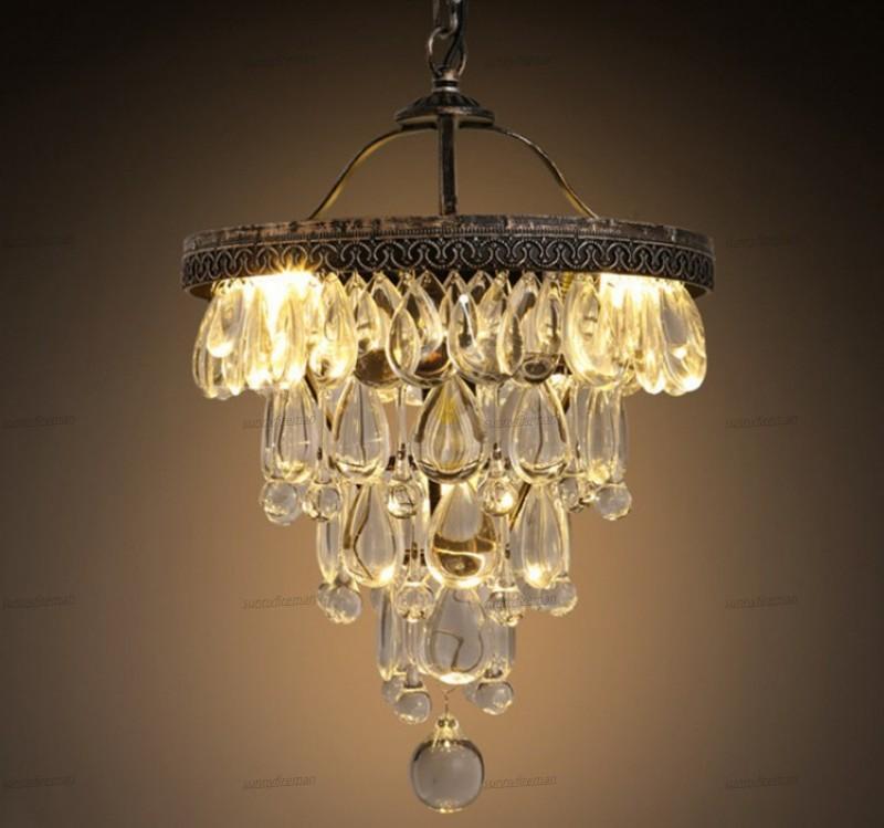 Luxo cristal de luminária moderna Hanging Lamp abajur jantar / sala de foyer / Home Lighting Luminarias Luminárias retro lâmpada de cristal