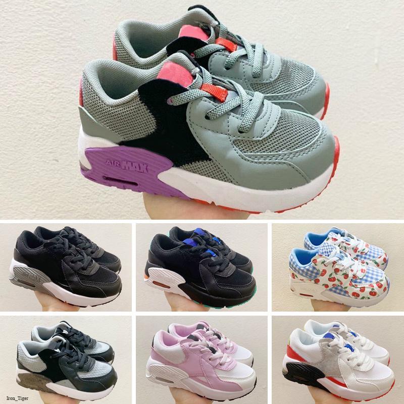 Nike Air Max Excee Zapatillas de deporte de los niños Zapatos Zapatos clásicos Negro Blanco Deportes entrenadores Menina Boy Trainer zapatos del amortiguador de superficie Deportes
