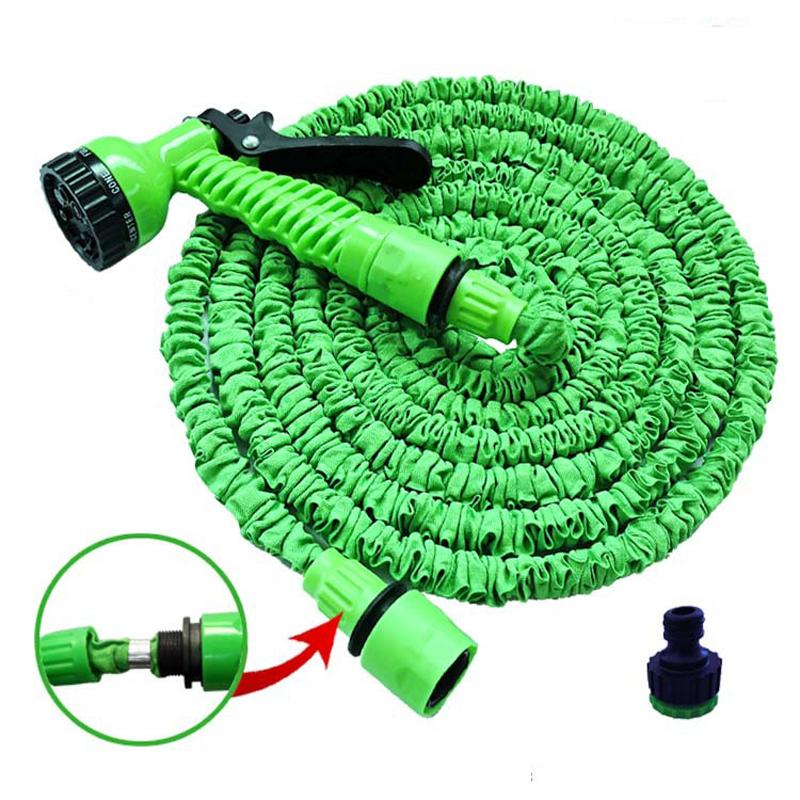 25FT-250FT Garden Hose Expandable Magic Flexible Water Hose EU Plastic Hoses Pipe With Spray Gun To Watering Car Wash Spray